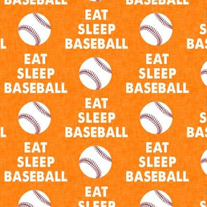 EAT SLEEP BASEBALL - Baseball - sports - orange - LAD19
