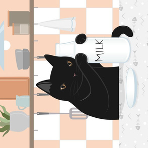 Sweet Milky Morning in Cat's Kitchen