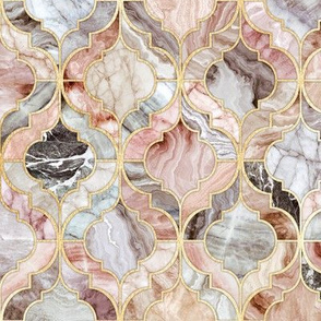 Rosy Marble Moroccan Tiles - medium