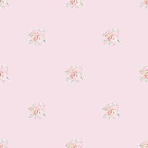 "1"" Baby Posy on Petal Pink"