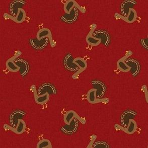 turkey toss fabric - turkey fabric, thanksgiving fabric, fall, usa, american holiday - burgundy