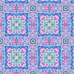 Pastel geometric tiles