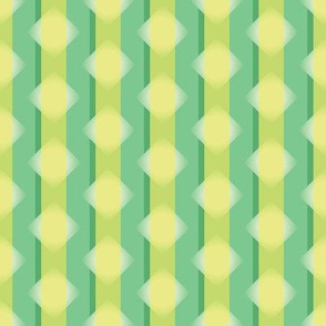 Green and yellow candy stripes and diamonds