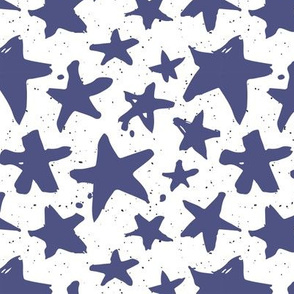 Blue Stars on Spotted Dots