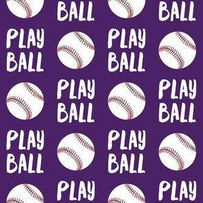 Play ball - baseball -  dark purple - LAD19