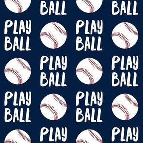 Play ball - baseball - navy - LAD19