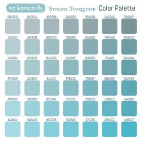 Stormy Turquoise Color Guide