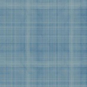 thatcher solid linen texture blue
