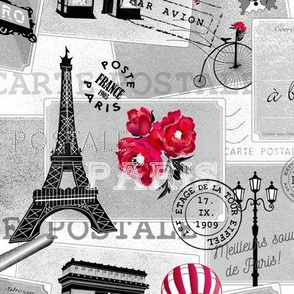 vintage mail from paris