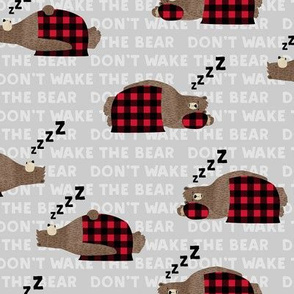 (small scale) don't wake the bear - grey  ZZZs C19BS