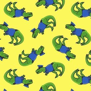 Police Trex - Dinosaur - yellow - LAD19