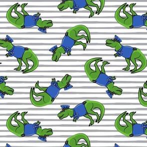 Police Trex - Dinosaur - grey stripes - LAD19