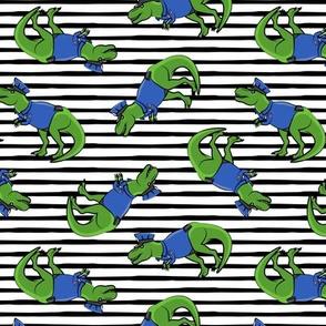 Police Trex - Dinosaur - black stripes - LAD19