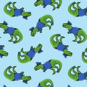 Police Trex - Dinosaur - blue - LAD19