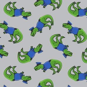 Police Trex - Dinosaur - grey - LAD19