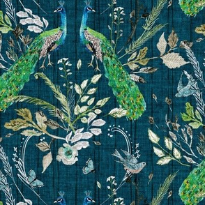 Peacock Chinoiserie (teal) MED