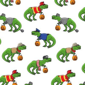 Trick or Treating Trex - halloween dinosaurs - LAD19