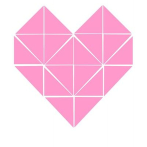 Geometric Heart in Pink Test Swatch