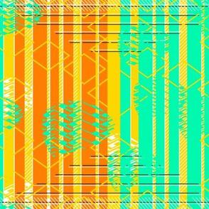 african_pattern_stripes_orange_designedbypereira