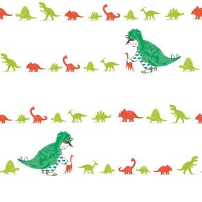 Lining up dinosaurs