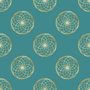 Glitter Rounds Turquoise