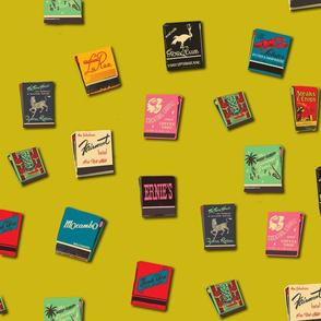Souvenir Matchbooks Chartruse