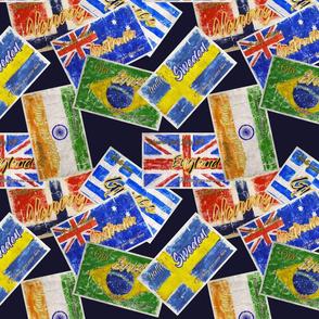 Vintage Flag Postcards