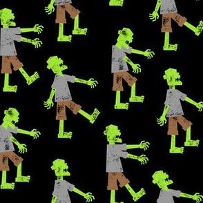 Zombie walk - halloween fabric - OG - LAD19