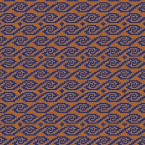 Orange and Blue Inca