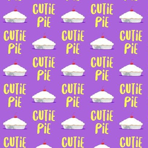 (small scale) Cutie Pie - purple & yellow - LAD19BS