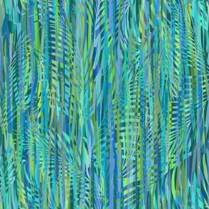 Palms  Ribbons Teal 200