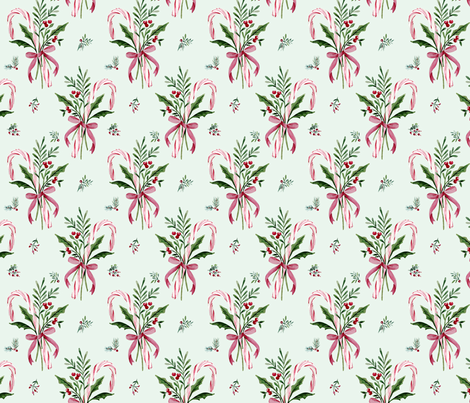 CANDY CANES fabric by melissahyattfabrics on Spoonflower - custom fabric