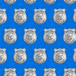 "(1.75"" scale) police badge blue C19BS"