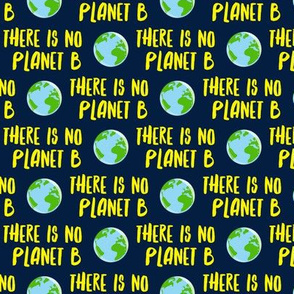 there is no planet b - earth yellow and navy - LAD19BS