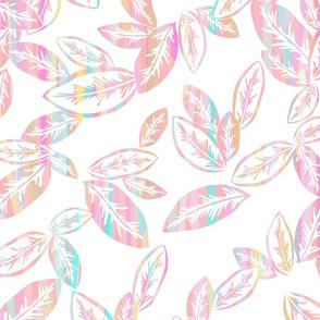 Leaf Garlands Coral Ribbons 300