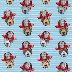 Pit Bull Terrier Fire Dog - blue stripes - LAD19