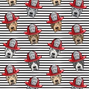 Pit Bull Terrier Fire Dog -  black stripes - LAD19