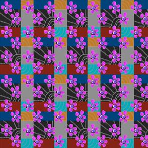 FLOWERY GEOMETRIC TWO PINK