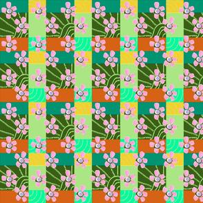 FLOWERY GEOMETRIC SPRING PINK