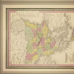 Turkey map, vintage, FQ