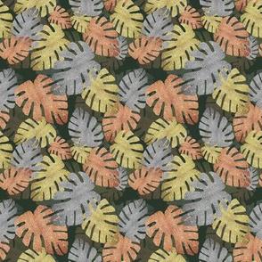 Tropical Metallic Leaves