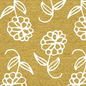 Large Floral (heather aspen gold)