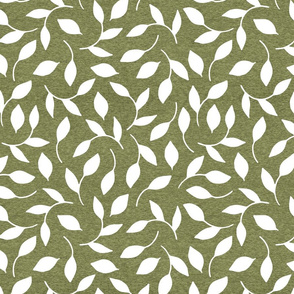 Half Scale Leaves (heather pepperstem) Home Decor Bedding, GingerLous