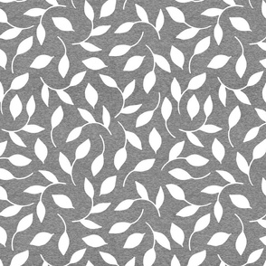 Half Scale Leaves (heather greystone) Home Decor Bedding, GingerLous