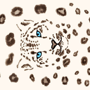 Watercolor Snow Leopard 2
