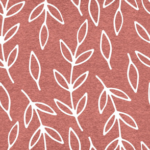 Large Branches (heather living coral) Home Decor Bedding, GingerLous