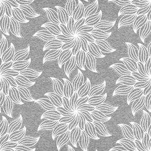 Large Mandala (heather gray) Home Decor Bedding, GingerLous