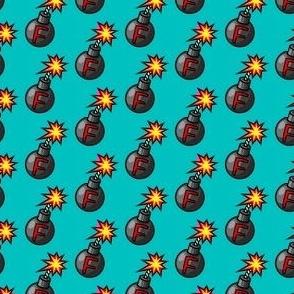 F-bomb teal- med