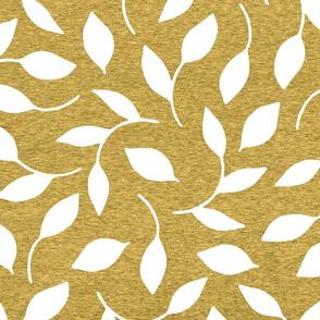 Large Leaves (heather aspen gold) Home Decor Bedding, GingerLous