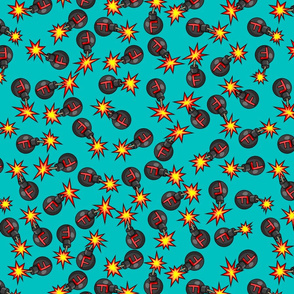 F-bomb scattered teal large